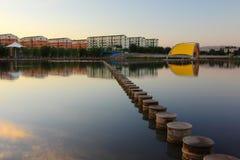 Ciudad de DuanHuang - reflexión de la mañana - provincia de China Gangshu Fotografía de archivo libre de regalías