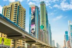 Ciudad de Dubai subterráneo Fotografía de archivo libre de regalías