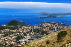 Ciudad de Dubrovnik imagenes de archivo
