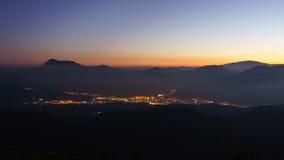 Ciudad de Durango en la noche Foto de archivo libre de regalías