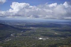 Ciudad de Eagle River Alaska Foto de archivo libre de regalías