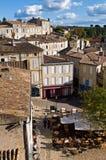 Ciudad de Emilion del santo Fotos de archivo