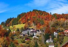 Ciudad de Engelberg en Suiza Fotos de archivo