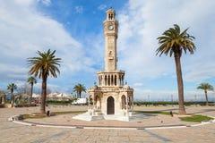 Ciudad de Esmirna, Turquía Torre de reloj vieja Foto de archivo libre de regalías