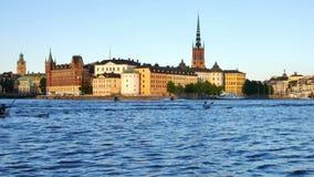 Ciudad de Estocolmo almacen de video