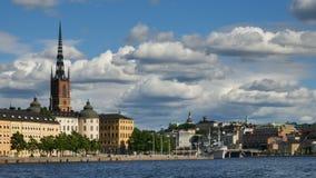 Ciudad de Estocolmo en el verano almacen de metraje de vídeo