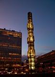 Ciudad de Estocolmo en la noche Fotos de archivo