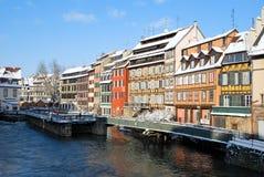 Ciudad de Estrasburgo durante invierno Imagenes de archivo