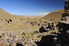 Ciudad de fantasmas, Altiplano, Bolivia Fotos de archivo libres de regalías