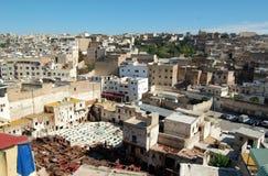 Ciudad de Fes en Marruecos Imagen de archivo libre de regalías