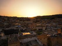 Ciudad de Fes, Marruecos Foto de archivo