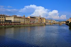 Ciudad de Florencia por día Foto de archivo libre de regalías