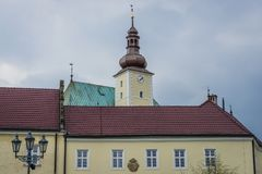 Ciudad de Frydek Mistek Imágenes de archivo libres de regalías