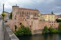 Ciudad de Gaillac en Francia Imagen de archivo libre de regalías