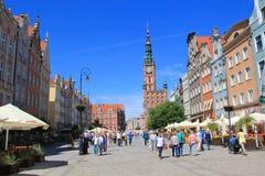 Ciudad de Gdansk, ciudad vieja, Polonia Imagenes de archivo