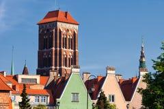 Ciudad de Gdansk en el paisaje urbano de Polonia Fotos de archivo libres de regalías