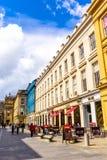 Ciudad de Glasgow, calles con la gente y turistas que caminan, 01 08 2017 Imagen de archivo libre de regalías