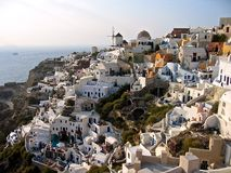 Ciudad de Grecia Santorini panorámica Imagen de archivo