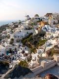 Ciudad de Grecia Santorini panorámica Imágenes de archivo libres de regalías