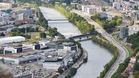 Ciudad de Grenoble en Francia almacen de metraje de vídeo
