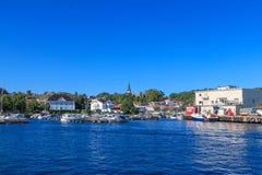 Ciudad de Grimstad Imagen de archivo libre de regalías