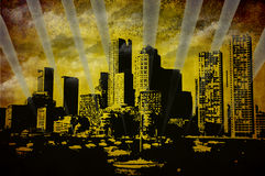 Ciudad de Grunge Imagen de archivo