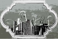 Ciudad de Grunge Fotos de archivo libres de regalías