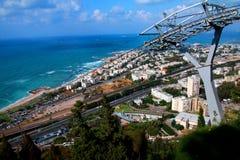 Ciudad de Haifa Cable Car imágenes de archivo libres de regalías