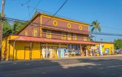 Ciudad de Haleiwa Foto de archivo libre de regalías