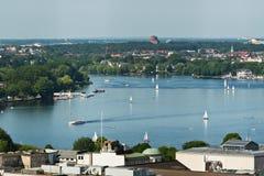 Ciudad de Hamburgo imagenes de archivo