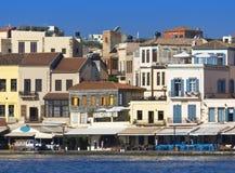 Ciudad de Hania en la isla de Crete en Grecia fotos de archivo