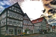 Ciudad de Hansa de Korbach, Alemania Foto de archivo libre de regalías