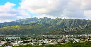 Ciudad de Hawaii Kai, Oahu, Hawaii fotografía de archivo