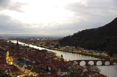 Ciudad de Heidelberg Imagen de archivo