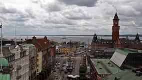 Ciudad de Helsingborg almacen de video