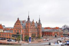 Ciudad de Helsingor, estación magnífica fotos de archivo