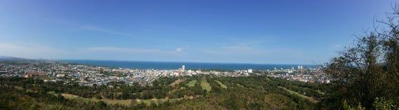 Ciudad de Huahin de la opinión del panorama Fotos de archivo libres de regalías