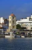 Ciudad de Ierapetra en la isla de Crete, Grecia foto de archivo libre de regalías