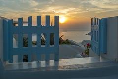 Ciudad de Imerovigli, Santorini Fotos de archivo libres de regalías