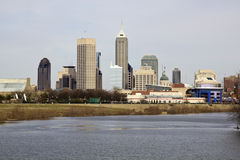 Ciudad de Indianapolis imagen de archivo libre de regalías