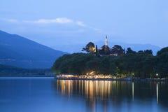 Ciudad de Ioannina en Grecia Imagen de archivo libre de regalías