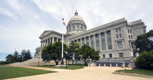 Ciudad de Jefferson, Missouri - capitolio del estado Imagen de archivo