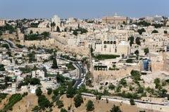 Ciudad de Jerusalén Foto de archivo