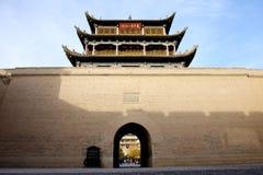 Ciudad de Jiayuguan imagenes de archivo