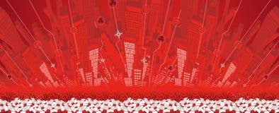 Ciudad de juego abstracta Imagen de archivo libre de regalías