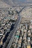 Ciudad de Kabul del aire del tha fotos de archivo