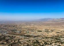 Ciudad de Kabul por el aire fotografía de archivo