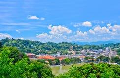 Ciudad de Kandy - Sri Lanka Foto de archivo
