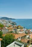 Ciudad de Kavala en Grecia Imagen de archivo