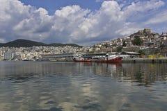 Ciudad de Kavala, Grecia Imagen de archivo